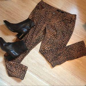 Leopard jeans pant